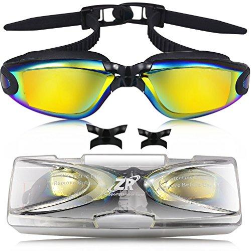 Schwimmbrille, ZIONOR G5 Anti-Nebel Taucherbrille mit austauschbaren Nasensteg Schnelle Veröffentlichung für Erwachsene Männer Frauen, Triathlon, wasserdicht, UV-Schutz, einstellbarer Kopfbügel