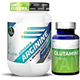 Advance Nutratech Arginine Aminos Pre-workout 200gm Unflavoured Raw Powder & Glutamine Supplement Powder 100gm...