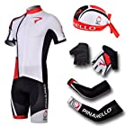 Cgecko 2013 White Pinarello #2 Short Sleeve Cycling Jersey Short Coolmax Padding cap glove arm Sleeve set