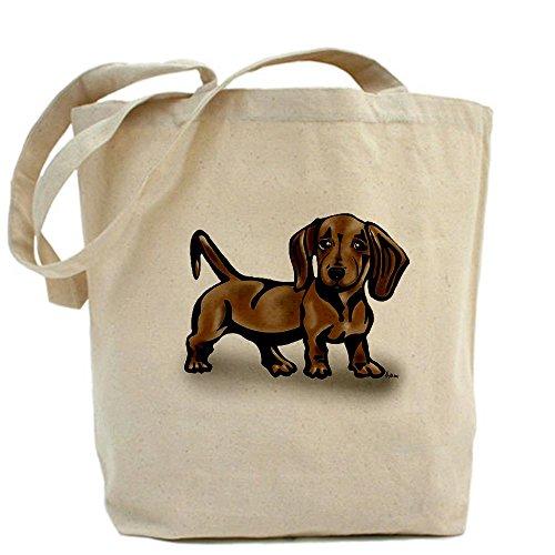 CafePress, motivo: bassotto Tote Bag-Borsa di tela naturale, panno borsa per la spesa