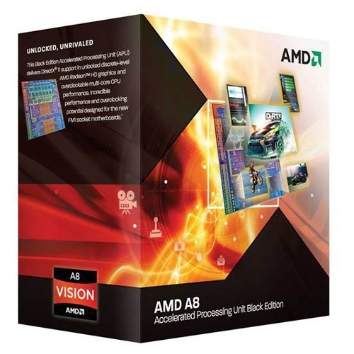 AMD A-Series A8 3870K Black Edition Quad-Core Processor (3.00 GHz, 4MB Cache, Socket FM1, 100W, Radeon HD6550D, 3 Year Warranty, Retail Boxed)