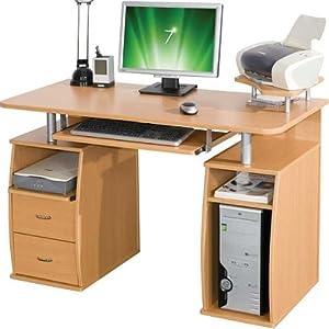 Myhomeoffice24 computertisch schreibtisch buche pc5b for Computertisch buche