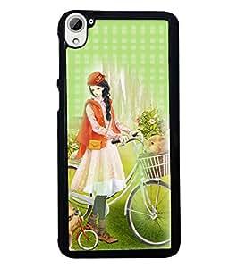 Fuson 2D Printed Girly Designer back case cover for HTC Desire 826 - D4482