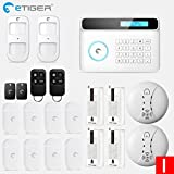 HITSAN etiger wireless gsm alarm system android ios app control home security alarm system with pir motion sensor ip camera SET I