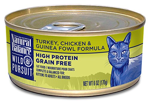 Natural Balance Wild Pursuit Turkey, Chicken & Guinea Fowl Canned Cat Formula
