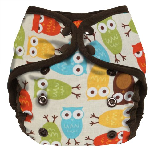 Planet Wise Diaper Cover, Owl, Size 2 front-956004