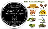 Fresh Scent Beard Balm 100% Natural & Organic by Hamilton Jackson - No1 Beard Softener for Men - Male Grooming - Easy-to-Use Leave-in with Shea Butter, Hemp Seed, Beeswax, Cedarwood & Lime Made in UK