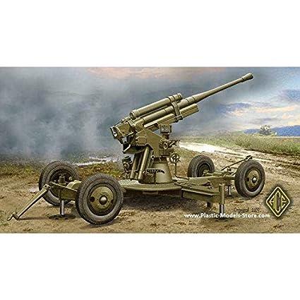 Maquette Canon anti-aérien lourd soviétique 52-K-85 mm 1939 début prod.