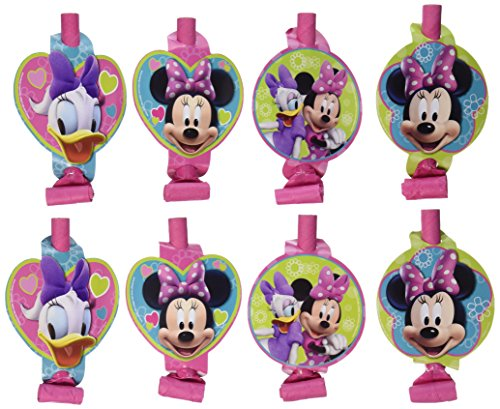 8 Count Minnie Mouse Blowouts, Multicolored - 1