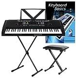 Funkey 61 Keyboard Schwarz inkl. höhenverstellbarem...