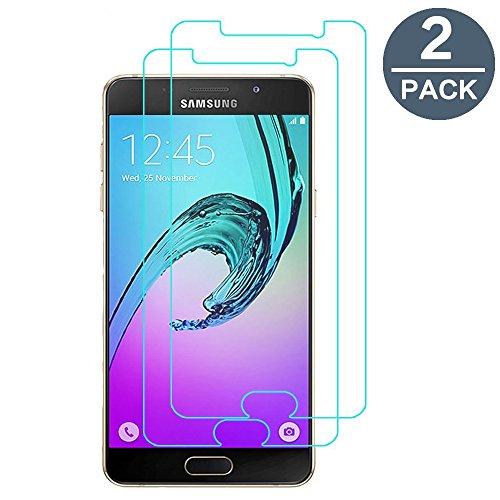 Cristal templado Samsung Galaxy A32016, [2-Pack] y-ouni película protección-sin burbujas de aire-Ultra resistente, dureza 9H protección tierra templado Samsung Galaxy A32016