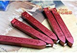 Manuscript Sealing Seal Wax Sticks Wicks for Postage Letter (5PCS Wine Red)