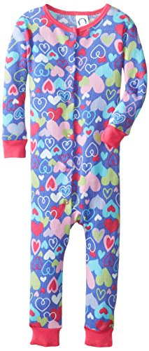 Gerber Baby-Girls Infant 1 Piece Girl Thermal Unionsuit, Heart, 18 Months front-576669