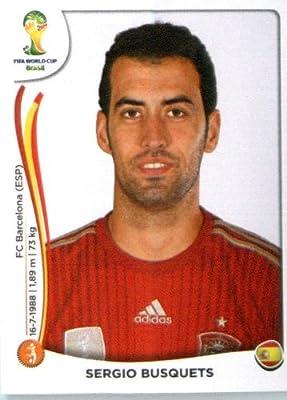 2014 Panini World Cup Soccer Sticker # 117 Sergio Busquets Team Spain