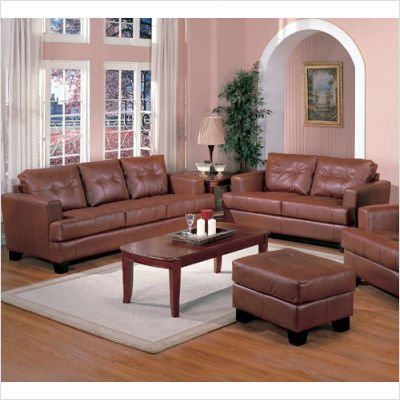 Picture of Wildon Home Anton Sofa and Loveseat Set in Light Brown (50159Series) (Sofas & Loveseats)