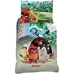 Angry Birds 043752 lenzuola Palm Beach, cotone rinforzato, 160 x 210 + 65 x 100 cm