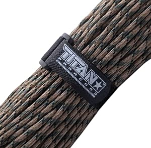 TITAN WarriorCord, Forest Camo, 100 Feet - Authentic Military 550 Paracord - MIL-C-5040-H, Type III, 7 Strand, 5/32