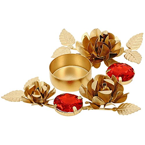 Golden Red Designer Diyas Christmas Decorations Candle Tea Light Holder