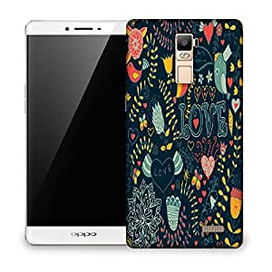 Snoogg Love Green Pattern Designer Protective Phone Back Case Cover For OPPO FIND 7