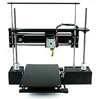 "ThreeUp v2 w/ Heated Bed 3D Printer Kit 7"" x 7"" x 8.25"" i3 Build Dimensions 50 Micron 1.75mm PLA ABS Nylon by Q3D"