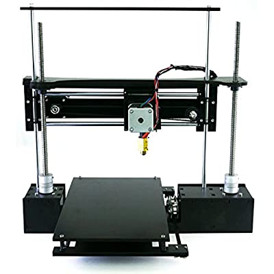 "ThreeUp v2 w/ Heated Bed 3D Printer Kit 7"" x 7"" x 8.25"" i3 Build Dimensions 50 Micron 1.75mm PLA ABS Nylon"