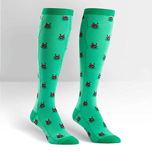 Sock It To Me LADY BUG Womens Knee Socks, One size