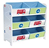 Worlds Apart 66EEV01 Kommode mit 6 Aufbewahrungsboxen für Jungen ab 18 Monate
