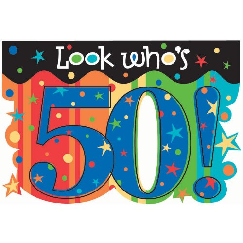50th A Year To Celebrate Invites - 8/Pkg. (Aged to Perfection)