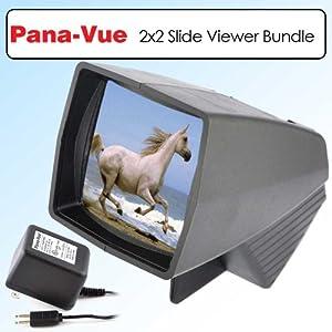 PanaVue Pana-Vue 1 Lighted 2x2 Photo Film Slide Viewer Bundle