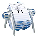 Durable Telindex Flip Rotary Telephone/Address Card File - Silver/Blue