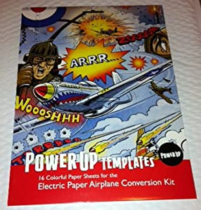 PowerUp Electric Paper Airplane Templates Kit