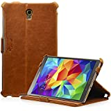 MANNA Samsung Galaxy Tab S 8.4 inch Case Smart Cover | Stand function & CleverStrap | Brown