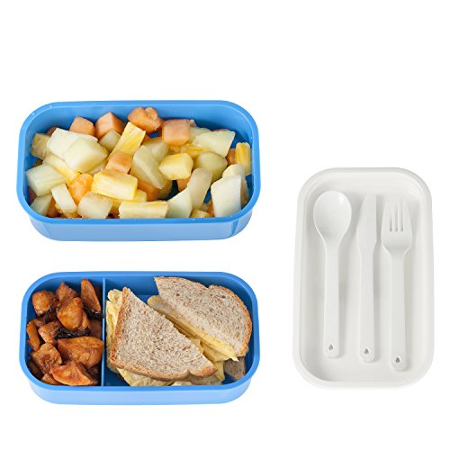 3 compartment food container designed with style stackable lunch container bento lunch box. Black Bedroom Furniture Sets. Home Design Ideas