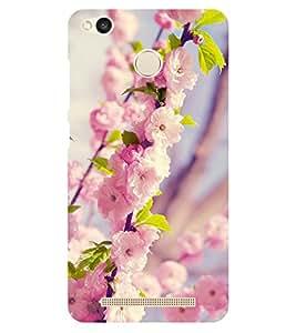 Chiraiyaa Designer Printed Premium Back Cover Case for Xiaomi Redmi 3S Prime (flower pink winter) (Multicolor)