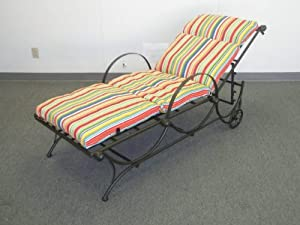 Outdoor Patio Chaise Lounge Cushion Retroo Design 24 Wide X 72