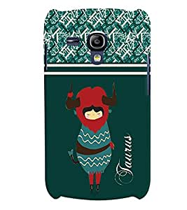 Fuson 3D Printed Sunsign Taurus Designer back case cover for Samsung Galaxy S3 Mini - D4407