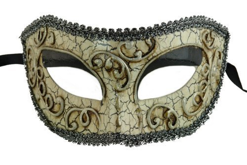 Laser Cut Venetian Halloween Masquerade Mask Costume Extravagant and Elegant Finely Detailed Mystic Ballroom Inspired - Shaded Silver Lining by KBMasks