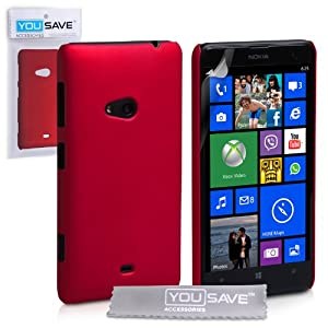 Amazon.com: Nokia Lumia 625 Case Red Hard Hybrid Cover: Cell Phones