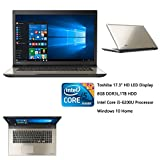 "Newest Toshiba High Performance 17.3"" HD LED (1600 x 900) Laptop, Intel Core i5-6200U Dual-Core Processor, 2.3GHz, 8GB RAM, 1TB HDD, WIFI, Webcam, HDMI, Bluetooth, Windows 10 Home, Silver"