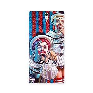Mobicture Cloun Premium Designer Mobile Back Case Cover For Sony Xperia C5
