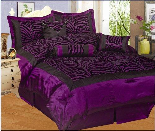 Purple Zebra Twin Bedding