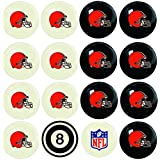Imperial Officially Licensed NFL Merchandise: Home vs. Away Billiard/Pool Balls, Complete 16 Ball Set, Cleveland Browns