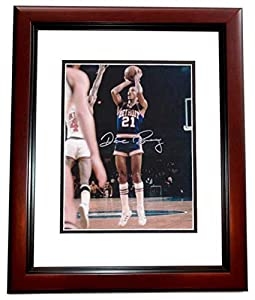 Dave Bing Autographed Hand Signed 8x10 Detroit Pistons Photo MAHOGANY CUSTOM FRAME by Real Deal Memorabilia