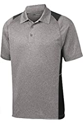 DRI-EQUIP Moisture Wicking 2-Color Athletic Polos in 10 Colors. XS-4XL