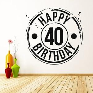 40 Cumpleaños Pegatina de Pared. Arte de Pared Celebración disponible en 5 tamaños y 25 colores en BebeHogar.com