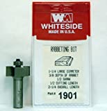 Whiteside Router Bits 1901 Standard Rabbeting Bit with 1-1/4-Inch Large Diameter, 3/8-Inch Cutting Diameter and 1/2-Inch Cutting Length