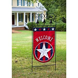 Patriotic Welcome Deluxe Applique House Flag