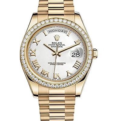 Rolex Day-Date II 41 Yellow Gold President Watch 218348 Diamond Bezel