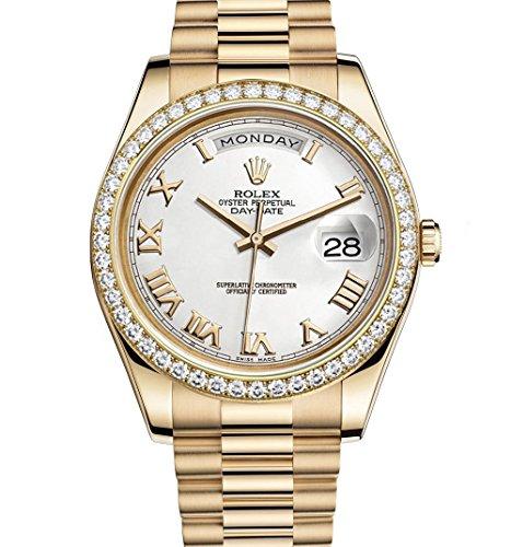 rolex-day-date-ii-41-yellow-gold-president-watch-218348-diamond-bezel