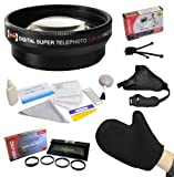 Best Value Accessory Lens Kit Bundle for the Samsung GX-1L GX-1S GX-10 GX-20 NX Mini NX5 NX10 NX11 NX20 NX30 NX100 NX200 NX210 NX300 NX300M NX1000 NX1100 NX2000 DSLR Digital Camera - Kit Includes Opteka 2x High Definition² Telephoto Lens + Opteka HD Clos